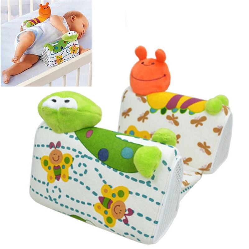 Baby Infant Newborn Cute Frog Cartoon Anti Roll Pillow Sleep Positioner Prevent Flat Head Cushion Side Sleeper Pro