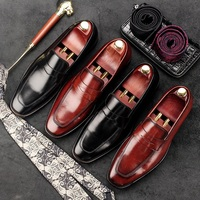 RUIMOSI Pointed Toe Luxury Brand Man Casual Shoes Patent Leather Male Loafers Designer Brand Wedding Bridal
