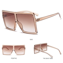 Sunglasses Women Brand Designer Big Frame Square Vintage Oversized Sun Glasses Travel Ladies Shades UV
