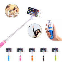 Mobile Phone Camera Extendable Mini Selfie Stick Holder Universal For iPhone Samsung Galaxy HTCFolded WiredSelfie Monopod Tripod