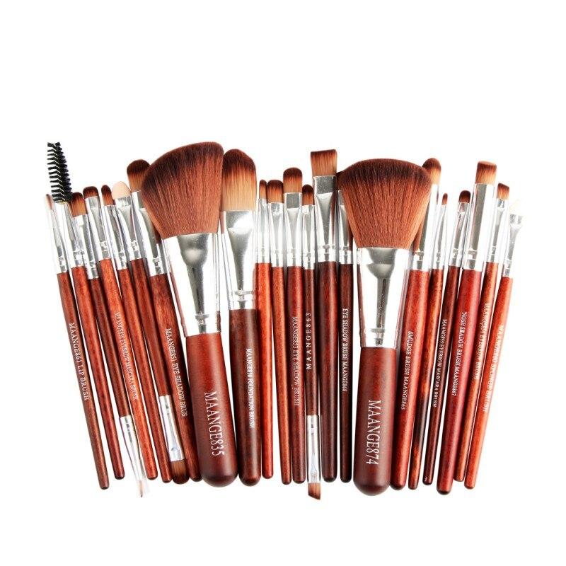 22 Pcs Pro Makeup Brush Set Powder Foundation Eyeshadow Eyeliner Lip Cosmetic Brush Kit Beauty Tools Maquiagem Y15 22 pcs makeup brushes set pro powder blush foundation eyebrow eyeshadow eyeliner lip beauty tools cosmetic maquiagem brush kit