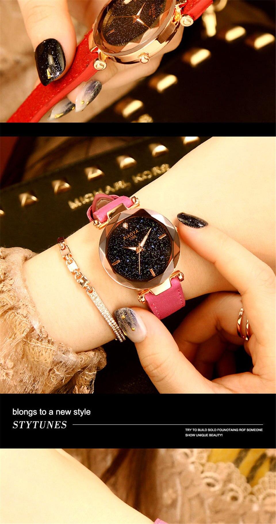 2018 Starry Sky Watch Women Minimalist Top Brand Luxury Wrist Watch For Ladies Female Clock Damski Montre Femme (10)