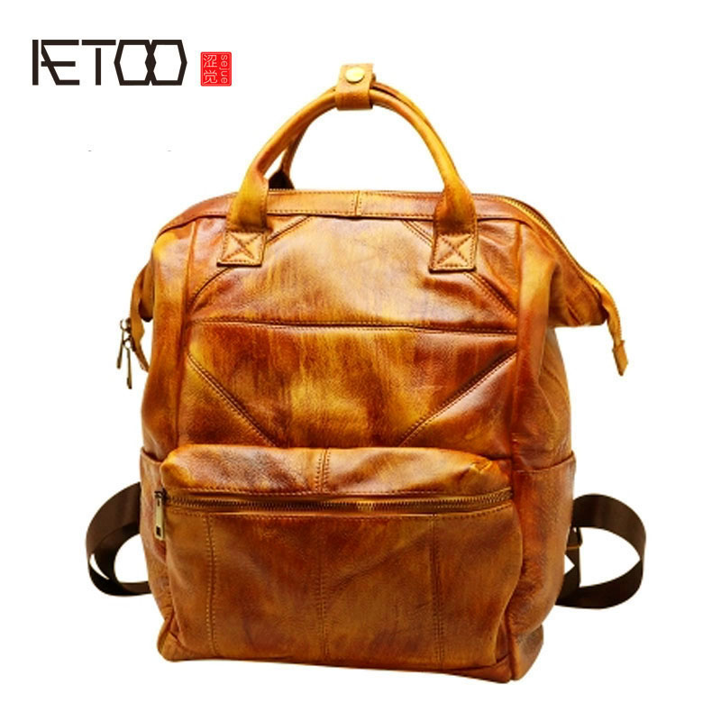 AETOO Shoulder bag female Korean fashion backpack retro lady bag new wave simple wild college style wind flb12084 hamburg s new fashion backpack shoulder bag college wind backpack schoolbag shoulder bag personality