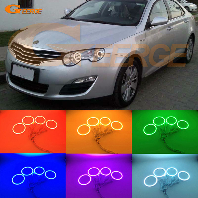 For Roewe 550 MG 550 2008 2009 2010 2011 2012 Excellent Angel Eyes Multi-Color Ultra bright RGB LED Angel Eyes kit Halo Rings for mazda cx 7 cx 7 2006 2007 2008 2009 2010 2011 2012 excellent multi color ultra bright rgb led angel eyes kit halo rings