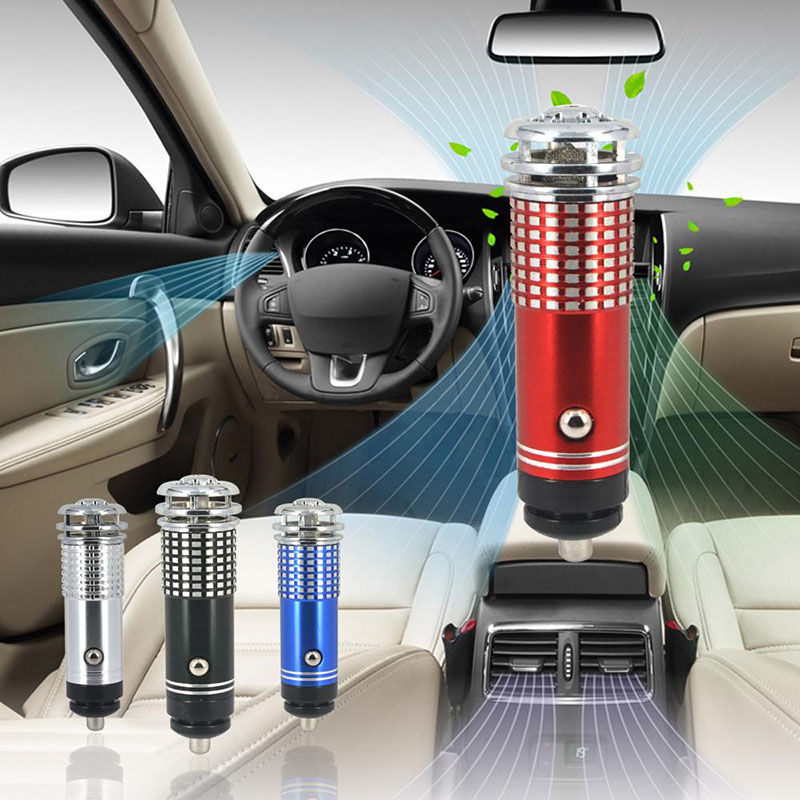 New Mini Car Air Purifier DC 12V Anion Ionizer Cleaner Fresher Portable Auto Vehicle Odor Eliminator