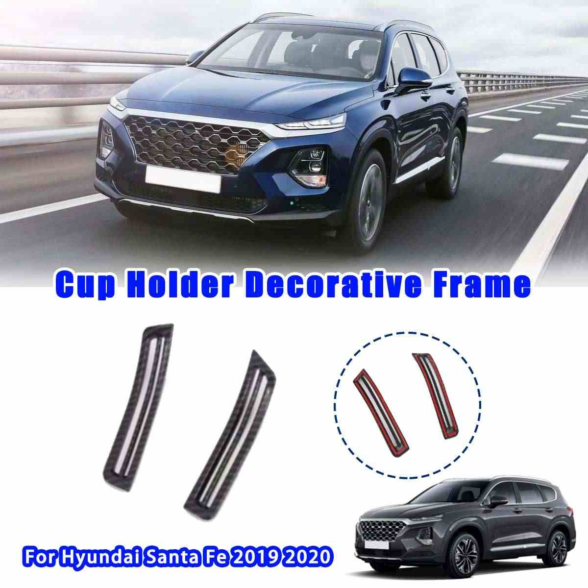 2x Auto Interieur Links Rechts Airconditioning Vent Cover Sticker Trim Styling Accessoires Voor Hyundai Santa Fe 2019 2020