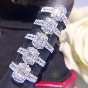 Image 4 - Anillo de oro puro de 18 quilates con diamante Natural, anillo de oro sólido AU 750, joyería fina clásica de lujo para fiesta, novedad de 2020