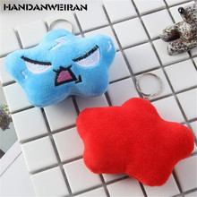 2PCS Expression Cloud Plush Toys Small Pendant Mini Cartoon Stuffed Toy Keychain For Kids Activity Gift Selling 9CM HANDANWEIRAN