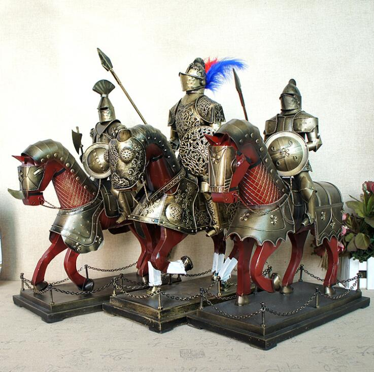 Европейский средневековые доспехи Рыцарь Модель 5 видов стилей ретро ручной работы изделия из металла украшения дома подарки для человека \