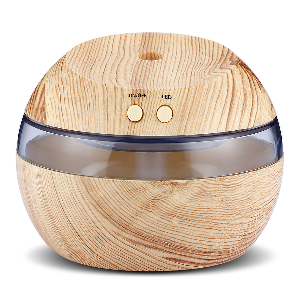 Home Office Wood - Type USB Humidifier Essential Oil Diffuser Ultrasonic Humidifier With Blue LED Light For Home Office Use