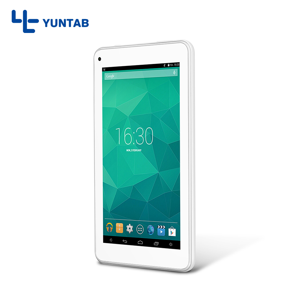 Yuntab T7 Android4.4 tablet PC Allwinner A33 Quad-core Capacitive screen 1024*600 with Dual Camera 2200mAh battery(black/white) yuntab 3g tablet pc k17 quad core android 5 1 touch screen unlocked smartphone with dual camera 0 3mp 2mp 5000mha battery