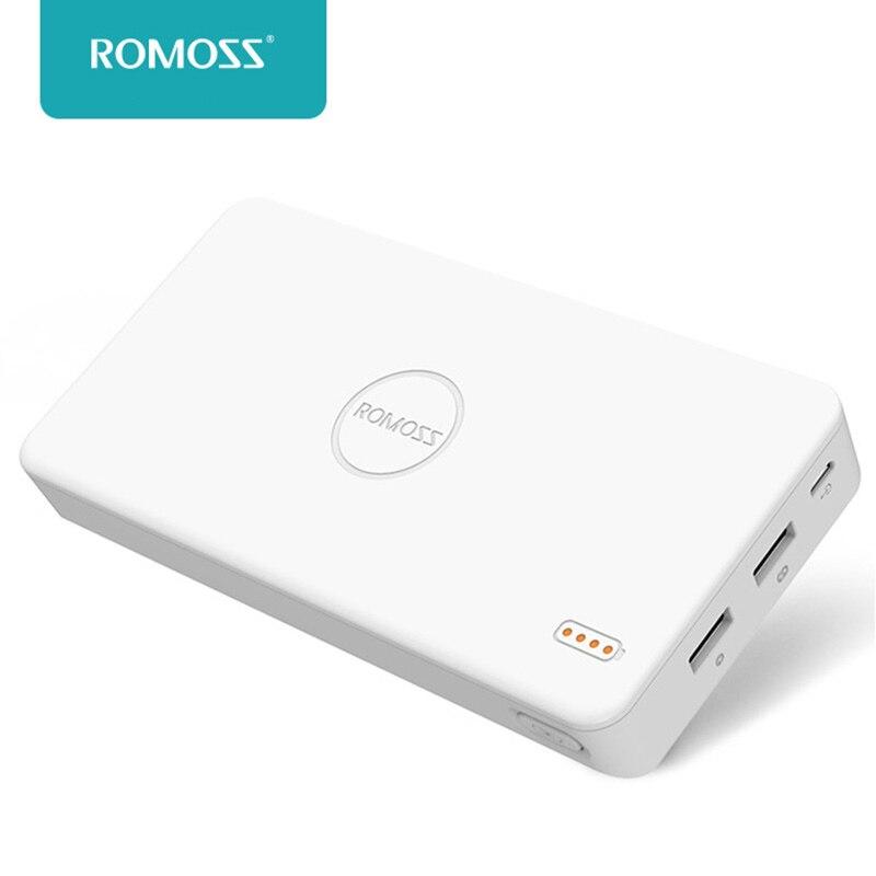 Цена за Romoss PB20 Dual USB 20000 мАч литий-полимерный Мощность мобильного банка Зарядное устройство Внешний Батарея пакет быстрой зарядки для сотового Телефон планшетные ПК