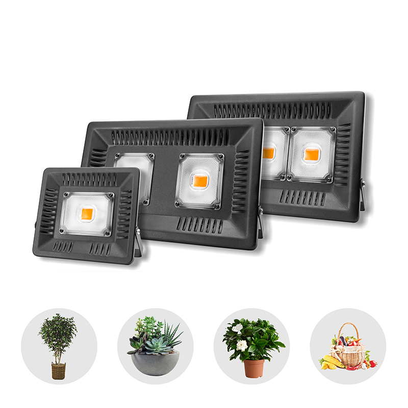 LED Full Spectrum Grow Floodlight 150W 100W 50W 30W Ultra Thin Waterproof 110V 220V LED Growing Lamp For Outdoor Vegetable Plant