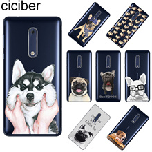 ciciber For Nokia 8 7 7.1 6 6.1 5 5.1 3 3.1 2 2.1 1 Plus Soft TPU Phone Case X7 X6 X5 X3 Cute Funny Pug Dog Coque Capa