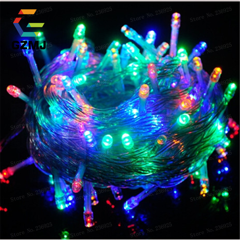 50M 400 LED String Fairy Light AC220V Waterproof Outdoor Colorful Led Xmas Christmas Light for Wedding Christmas Party Holiday