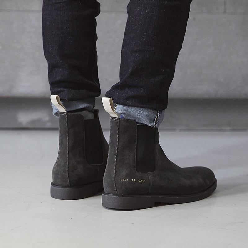 Men's Flat Chelsea Boots Shoes