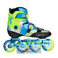 Европейские размеры 30 38 Регулируемая Roadshow RX3CC Детские Встроенные коньки из углеродного волокна детская обувь для роликов, скейтборда сколь