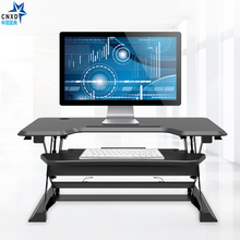 Ergonomic Height Adjustable Stand Up Computer Desk Laptop Desks Standing Desk Sit Stand Riser Black Desk(China)