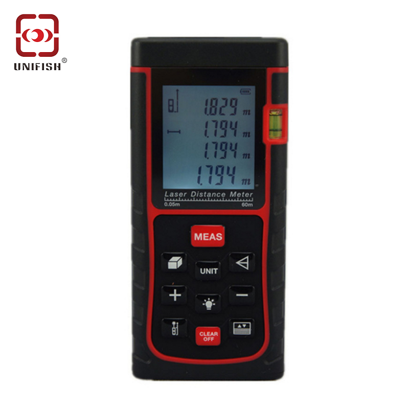 ФОТО SW-E60 Digital Hand held Laser Distance Meter Measure Finder 60M LCD Display Digital Range Finder Laser Tape Measure