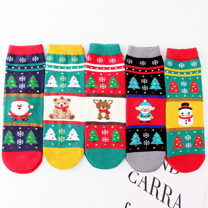 snowshine YLW  Christmas Women Girl Casual Socks Cute Unisex Cotton Soft Breathable Warm Socks