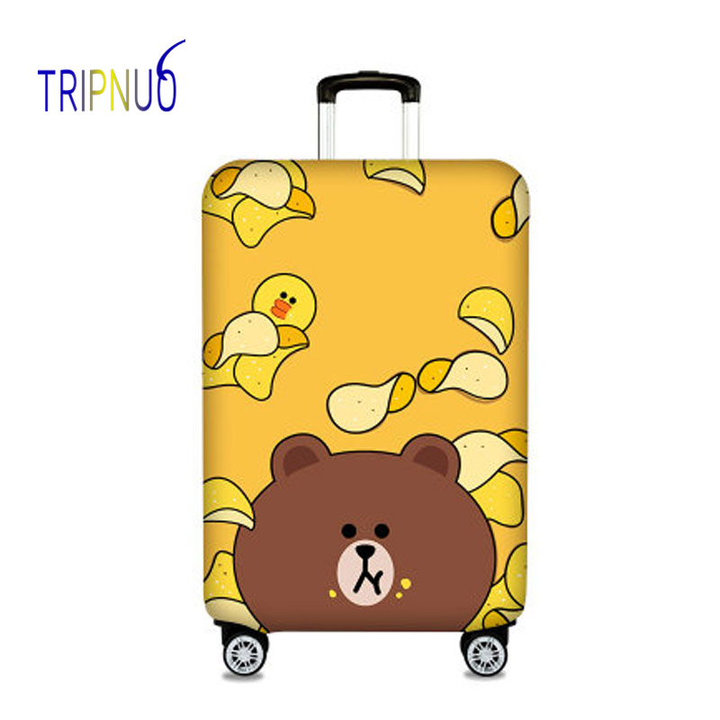 TRIPNUO Elastic Fabric Potato Chips&Bear Luggage Protective Cover, Suitable18-32 Inch ,Trolley Case Suitcase Cover