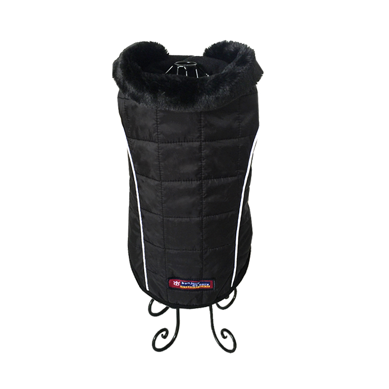 Waterproof Dog Black Jacket Puppy Pet Dog Clothes Autumn Winter Vest Ropa Para Perros S M L XL