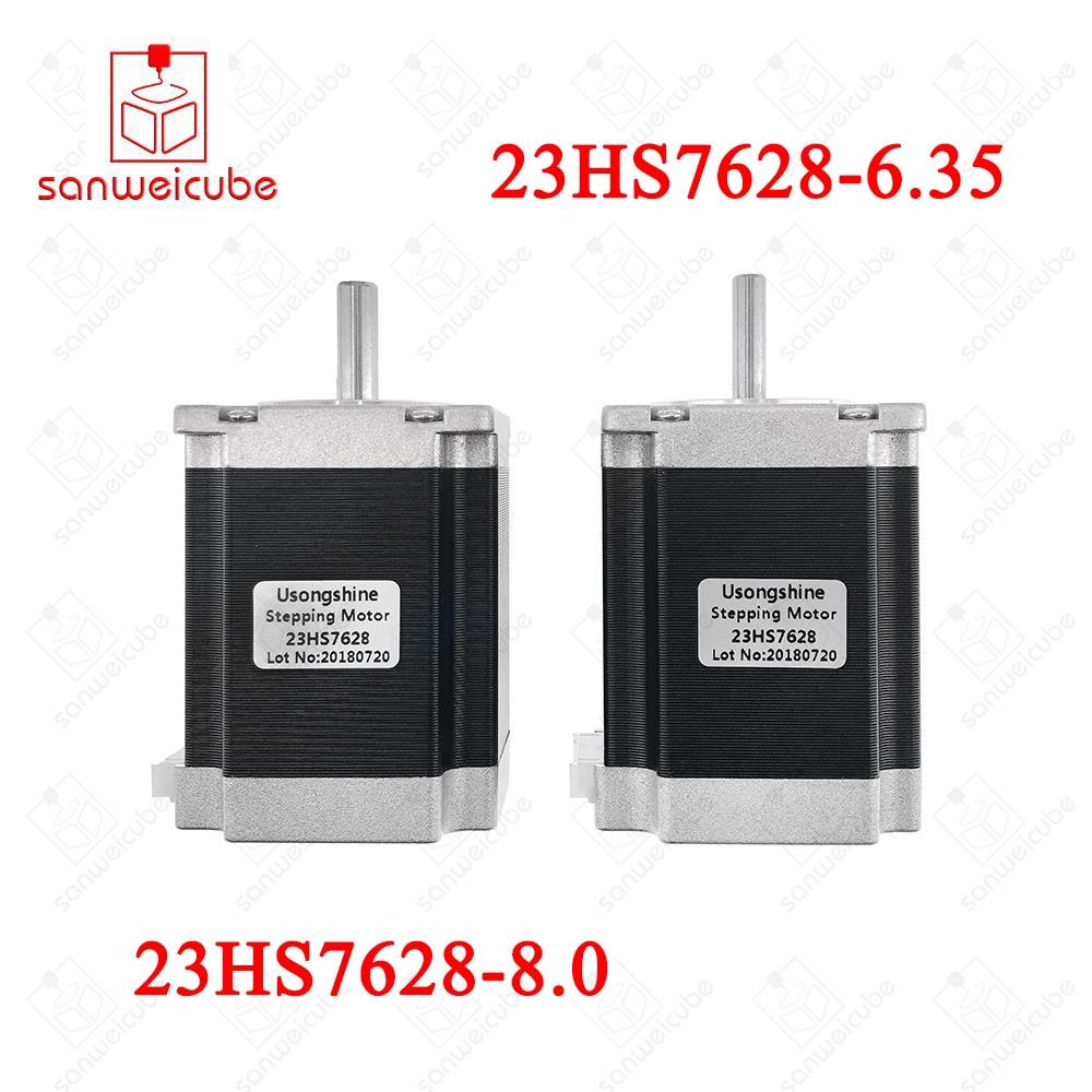 цена на 3pcs/lot Nema23 Stepper Motor 23HS8430 23HS7628 4-Lead 270oz-in 76mm 2.8A Bipolar CE ISO ROHS CNC Router Engraving Machine