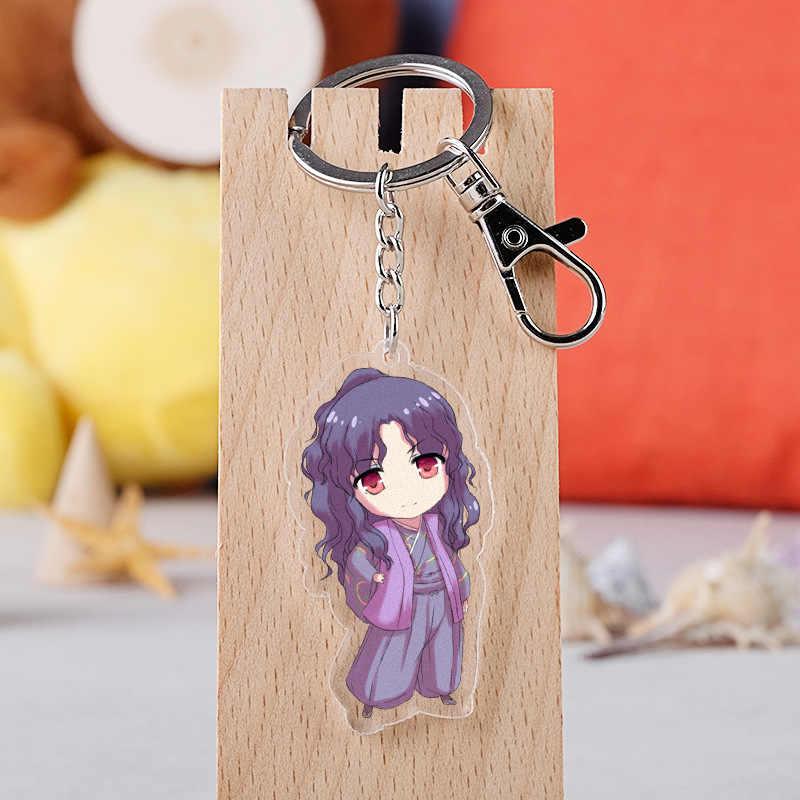 Anime Inuyasha Cosplay Gantungan Kunci Kartun Jepang Acrylic Figure Kagome Kikyou Mobil Gantungan Kunci Rantai Liontin Gantungan Kunci