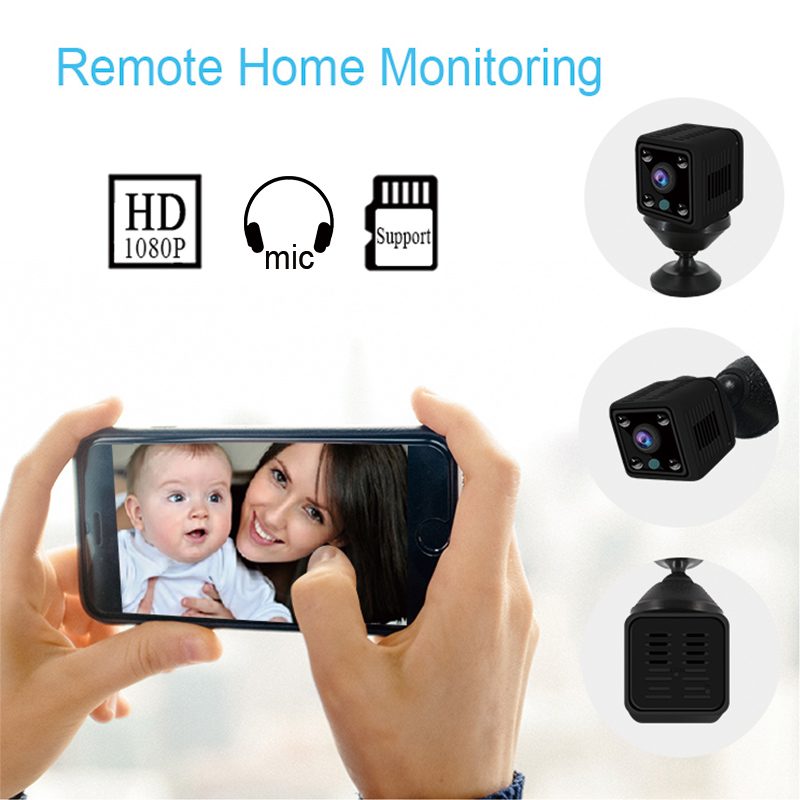 Image 5 - KONLEN Small Mini Wifi Camera IP Wireless Battery 1080P HD P2P Video CCTV Nanny Body Cam SD Home Security World Vision Monitor-in Surveillance Cameras from Security & Protection