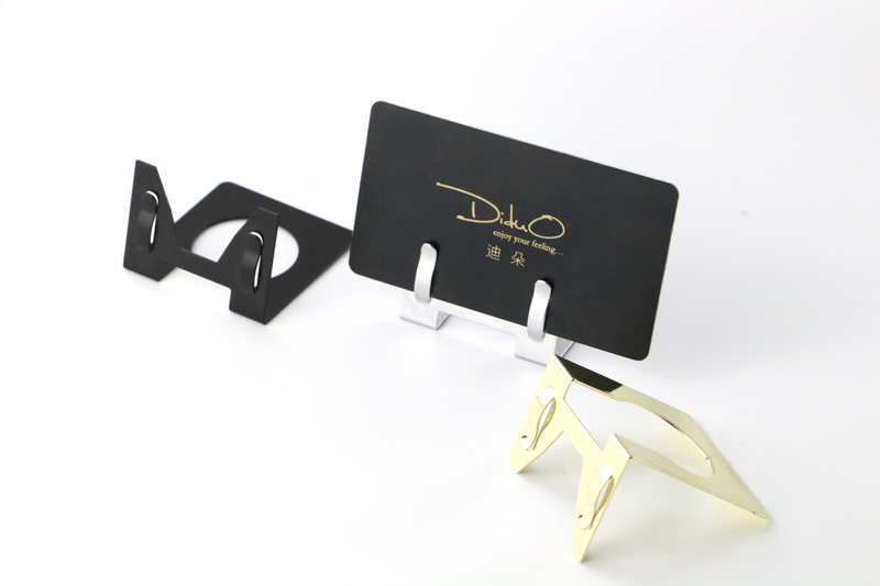 20 Pcs L Metal Label Holder Office Name Card Display Clip Table Top Sign Picture Photo Memo Clip Price Tag Stand