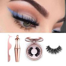 Magnetic Eyelashes Eyeliner Eyelash Curler Set Magnet Natural Long False With Tweezers