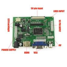 Universal HDMI VGA 2AV 50 Pins TTL LVDS Controller Board Modul für Raspberry PI 800×480 LCD AT090TN10 Panel Display freeship