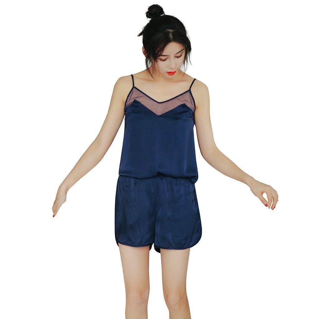 Vereinigt Mode Frauen Student Dünne Homewear Trim Nette Süße Negligés Lady Off Schulter Nachtwäsche Frauen Belüftung Hause Kleidung Schlaf-oberteile Damen-nachtwäsche