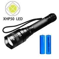 PANYUE Powerful 3000Lumens Tactical Flashlight 18650 5 mode LED flashlight Torch Zoomable with 2 x 18650 Rechargeable Battery