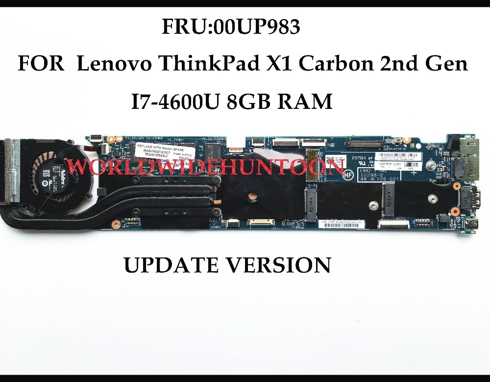for Lenovo X1 Carbon 2nd Gen Motherboard i7-4600 8GB 12298-2 00UP983 New Version