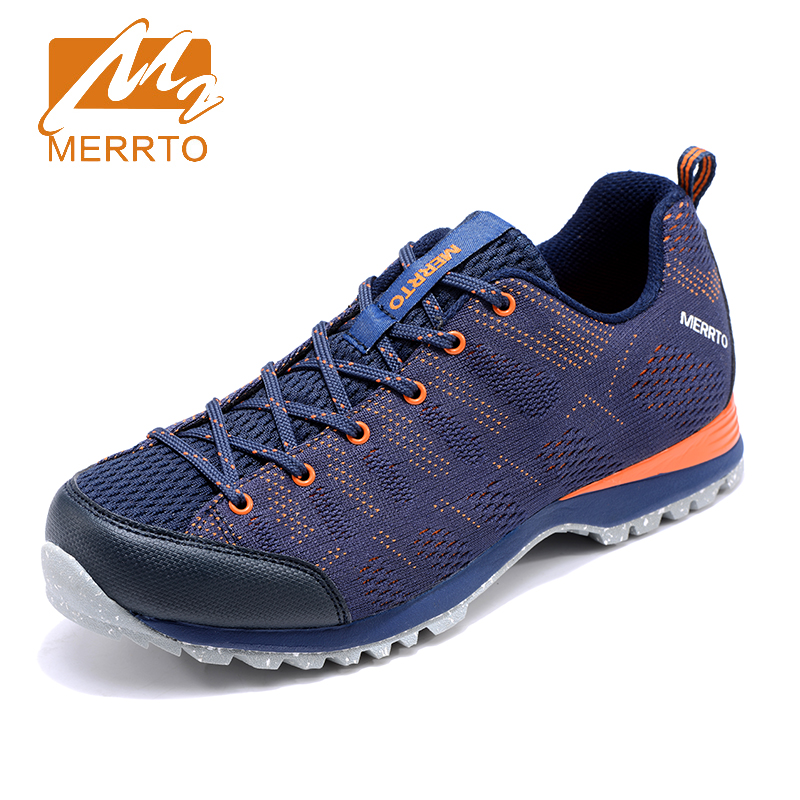 2018 Merrto Mens Walking Shoes Breathable Outdoor Sports Shoes Light Weight Travel Shoes Mesh For Men Free Shipping MT18671 2018 merrto mens walking shoes breathable outdoor sports shoes for men color brown grey red khaki blue free shipping mt18623