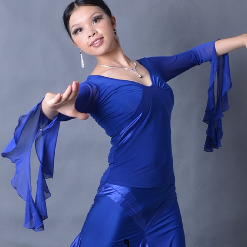 Ballroom dance moderni ples zapestje dolžina rokavov obesek lotus - Odrska in plesna oblačila