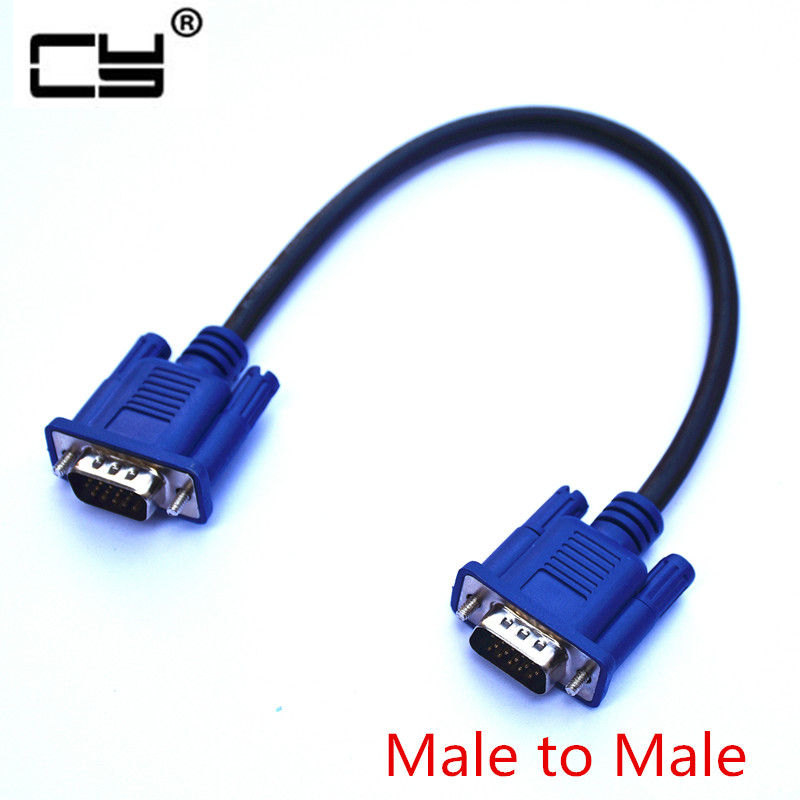 30cm 50cm VGA Cable Male to MaleBraided Shielding High Premium HDTV VGA computer tv display signal short cable 0.3m/0.5m/1.3m vention vga to vga flat cable male to male black braided shielding high premium hdtv vga cable