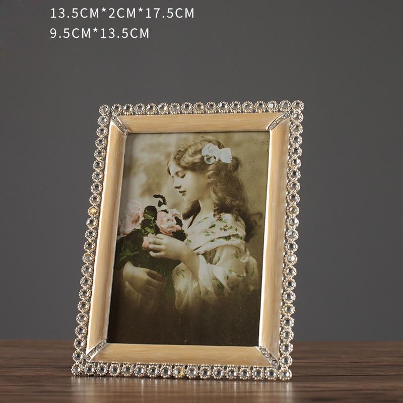 Vintage DIY European Retro Photo Frame Table 4 Inch 5 Inch 6 Inch 10 Inch Metal Photo Frame Wedding Art Photo Pictures Frame