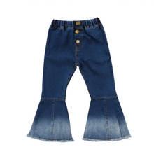 Джинсовые брюки с широкими штанинами для маленьких девочек