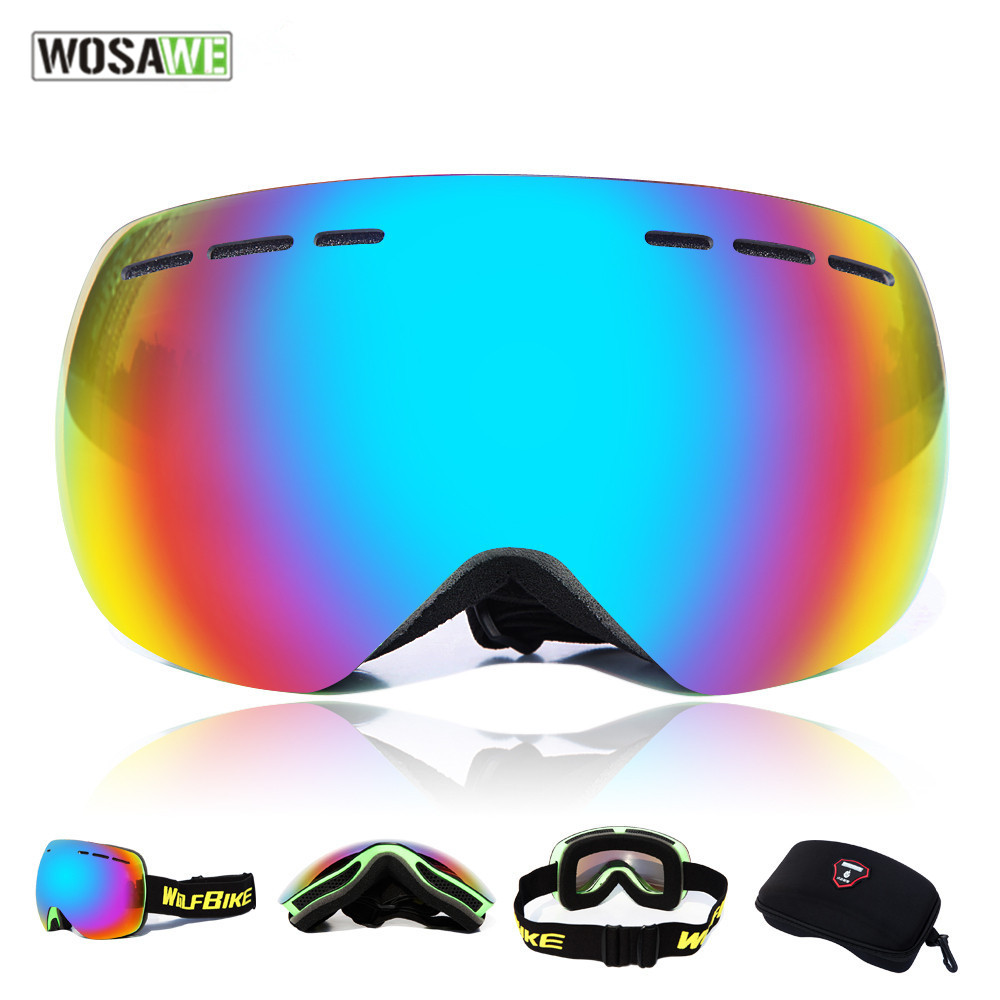 WOSAWE male female Windproof Glasses Ski Goggles Dustproof Snow Glasses Men Women Motocr ...