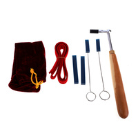 6pcs Professional Wood Handle Piano Tuning Hammer w/Mute Tune Tool Kit Set Dropshipping BS