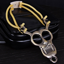Outdoor hunting Tiger Pattern Slingshot of Stainless Steel Material Special for Athletics