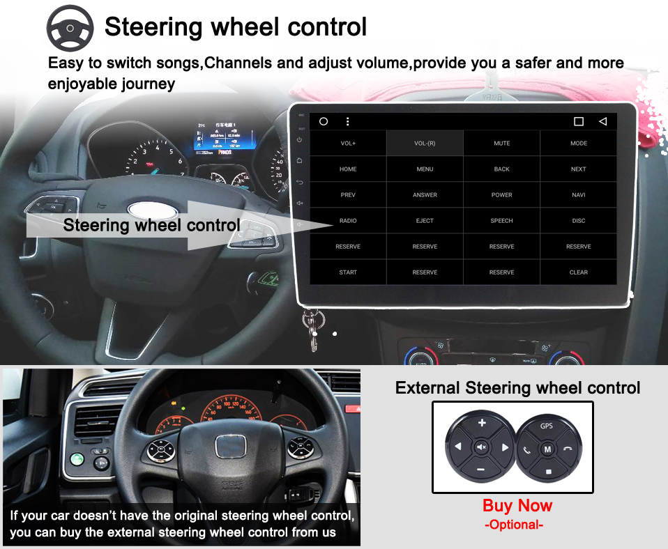 5 Steering wheel control