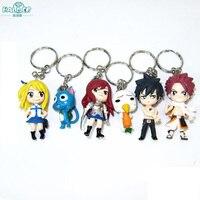Halder Fairy Tail Hình Anime Charms Key Chains Etherious Natsu Dragneel Xám Fullbuster Nữ Trang Phụ Kiện Tiện Ích Keychain