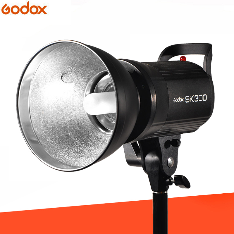 Godox SK300 300W 58GN Professional Studio Flash 5600K Strobe Lamp Monolight with Lamp Head godox gs300 studio strobe flash light monolight