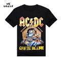 2016 Nueva Camisetas AC/DC Band T Shirt Mens Gráfico Camisetas Impresas Casual Camiseta Tallas grandes O Cuello de Hip Hop de Manga Corta, TÍO YK