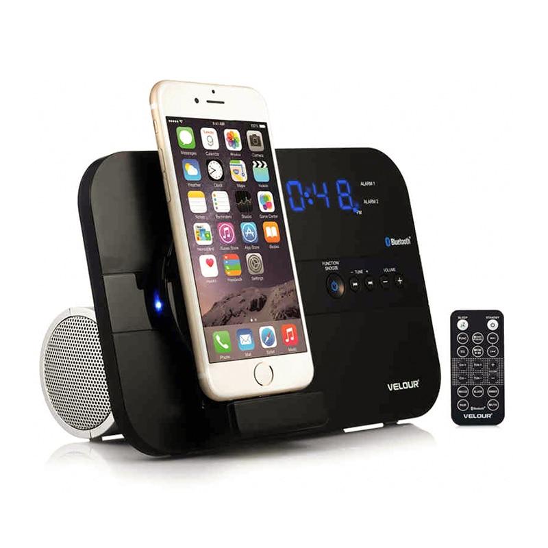 цена на bluetooth speaker portable music charging base tweeter receiver audio loudspeaker alarm clock audio