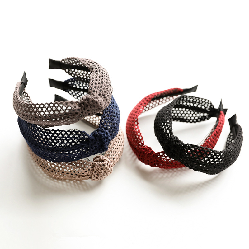 2018 New Simple Knotted Wide Hairband women girls hair head hoop band accessories Lace headband female Holder headwear headdress