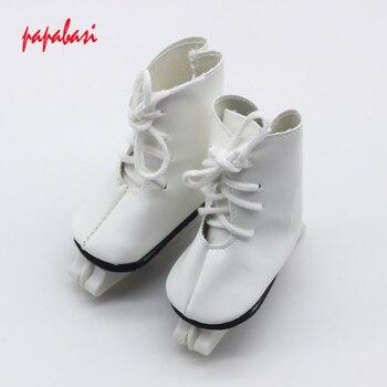 Модные 1 пара из белой искусственной кожи роликовые коньки обувь для 18  дюймов американская девушка куклы как для Alexander Кукла аксессуар сапог. 262761cac4f